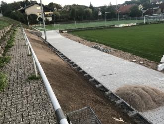 Umbau Trainingsplatz zum Kunstrasenspielfeld